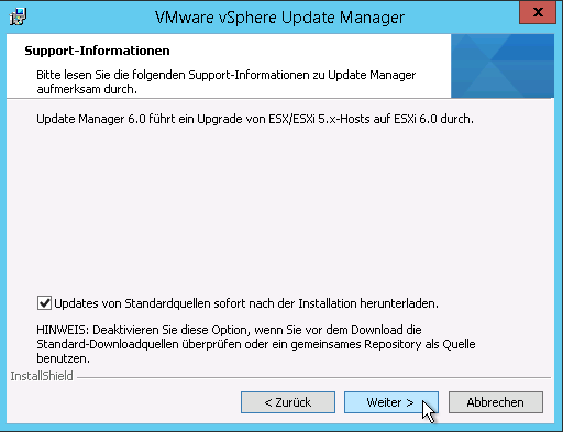 Install vSphere Update Manager in addition to vCenter Server